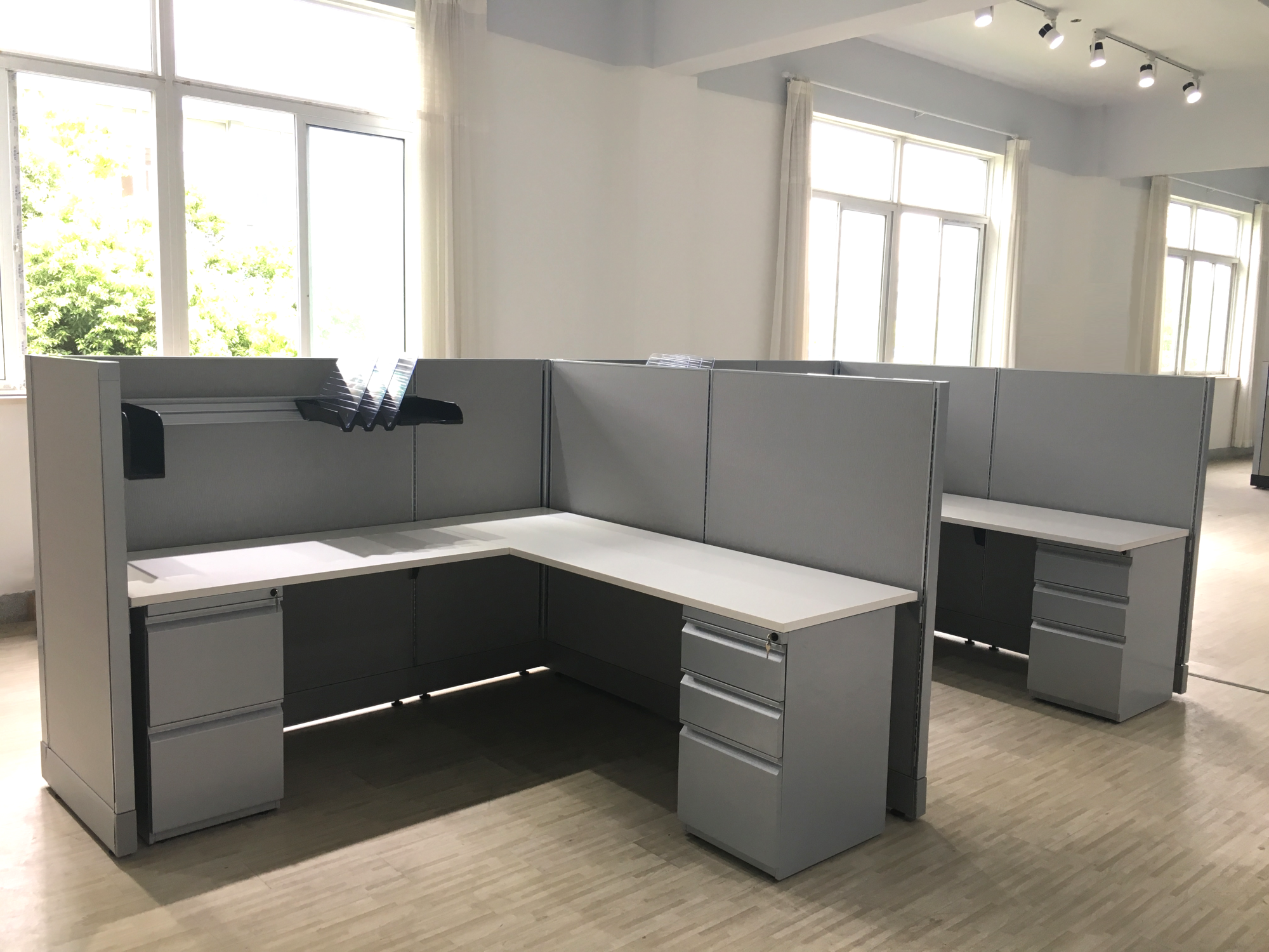 office work surfaces. Worksurfaces Are Stocked In Corner And Rectangular Configurations. The Include 60MM Grommet Holes Mount With A 5/8\ Office Work Surfaces